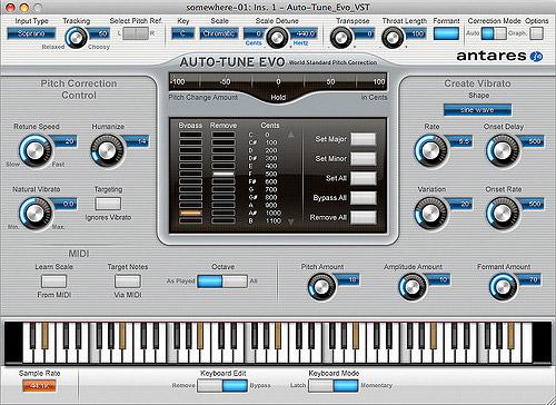 Antares Auto-Tune Plugin in seiner ersten Version