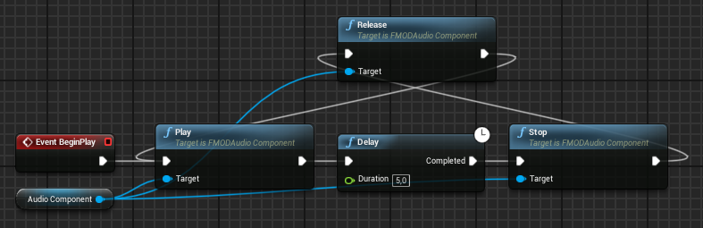 FMODAudioComponent in Unreal Engine 4