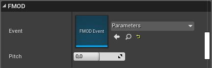 FMOD Event Parameter im Details Tab