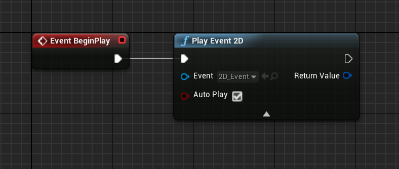 FMOD Play Event 2D Node in Unreal Engine 4