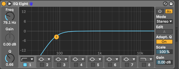 Hochpassfilter in Ableton Live