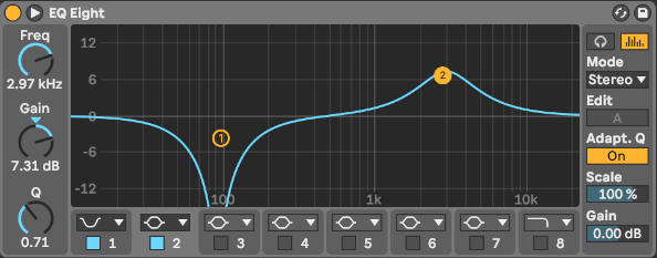 Notch- und Peakfilter in Ableton Live