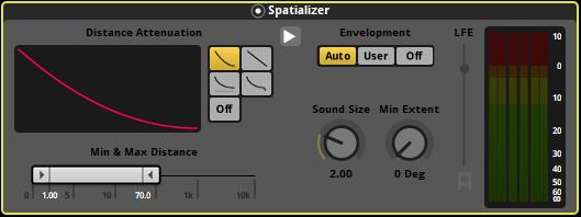 FMOD Studio effetto Spatializer