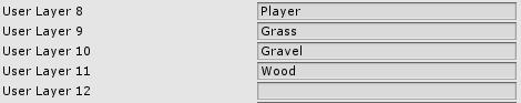 Creazioni di nuovi layer in Unity