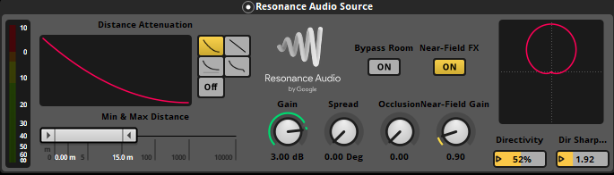 Book collision event Resonance Audio Source