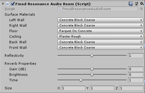 FMOD Resonance Audio Room Component