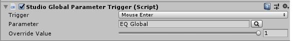 FMOD Studio Global Parameter Trigger Component