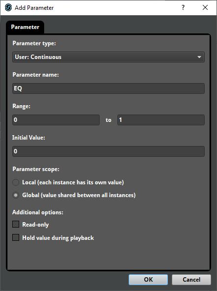 FMOD Studio Global Parameter