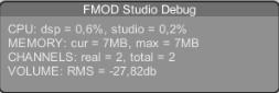 FMOD Debug window inside Unity
