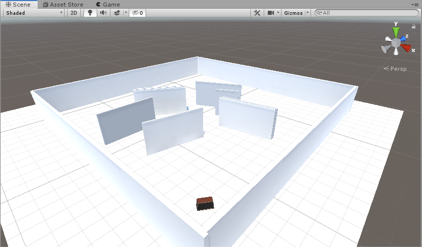 Occlusion scene example room in Unity