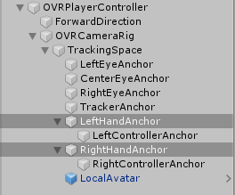 OVRPlayerController GameObject