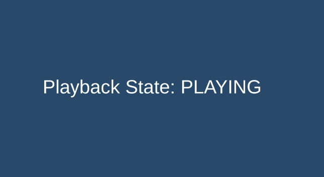 Playback States visualized in Unity
