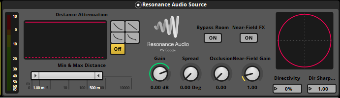 Resonance Audio Source effect in FMOD