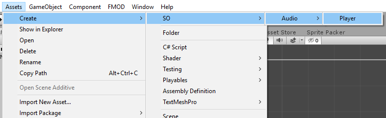 Add ScriptableObject .asset file