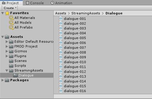 Unity subfolder inside StreamingAssets