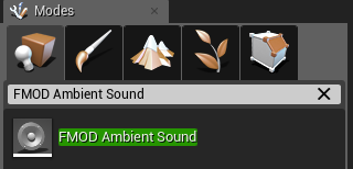 FMOD Ambient Sound in Unreal Engine 4