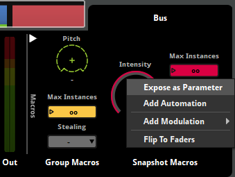 Expose Snapshot Intensity as a Parameter