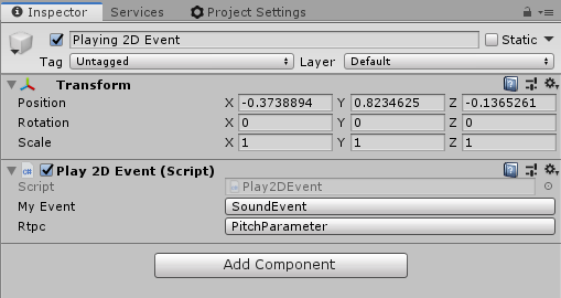 Wwise RTPC Type in Unity's inspector