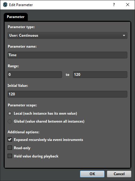 Adding a new FMOD Parameter