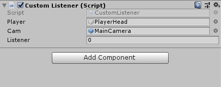Custom Listener Script in Unity's inspector