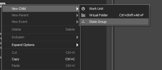 Creating a Wwise State Group