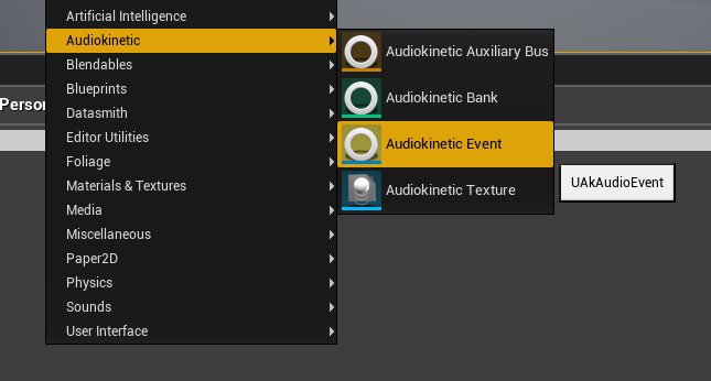 Creating a Wwise Event Asset in Unreal Engine 4