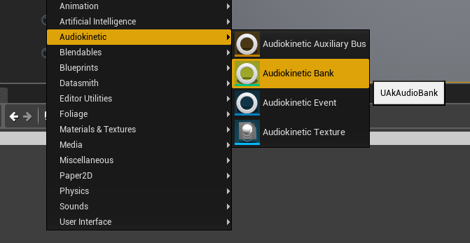 Creating a Wwise Soundbank asset in Unreal Engine 4