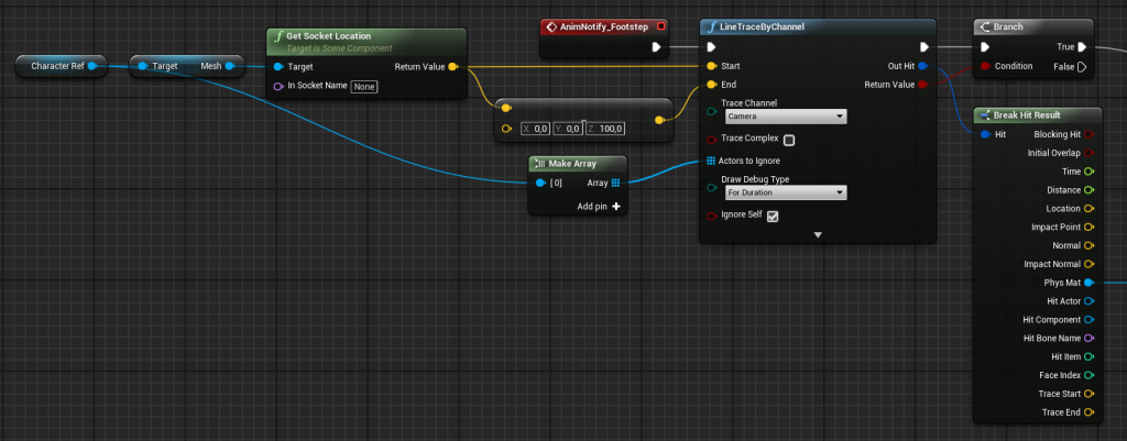 First part of the Footsteps implementation for a Third Person Character with Wwise in UE4