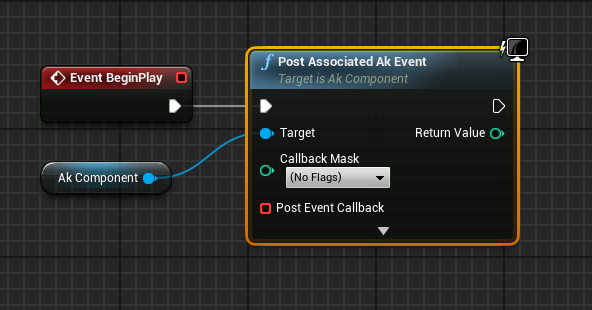 Post Associated Ak Event node in Unreal Engine 4