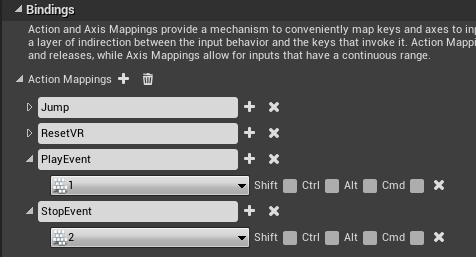 Input bindings example in Unreal Engine 4