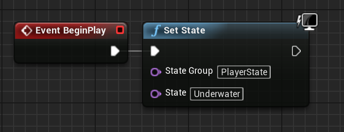 Set State node in Unreal Engine 4