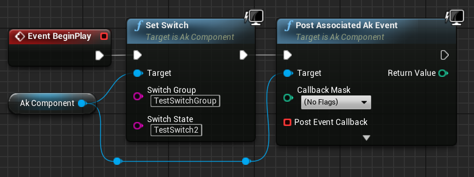 Set Switch node with Ak Component as target