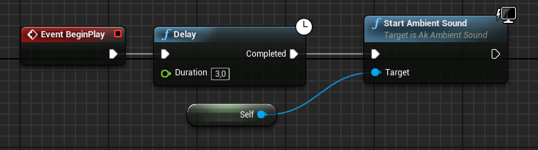 Start Ambient Sound node in Unreal Engine 4