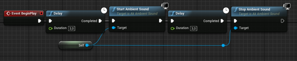 Stop Ambient Sound node in Unreal Engine 4