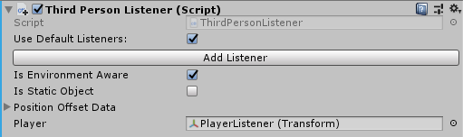 Third Person Listener script in Unity