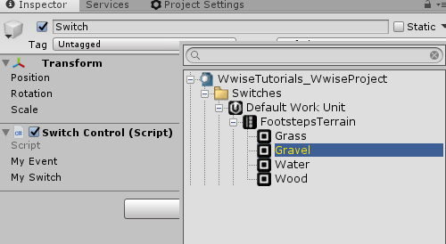 Wwise Switch Type in Unity
