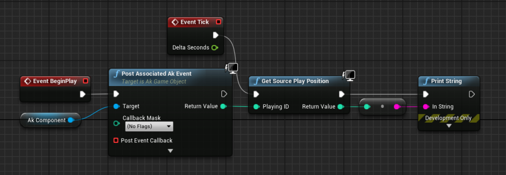 Get Source Play Position blueprint node example