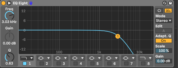 Tiefpassfilter in Ableton Live