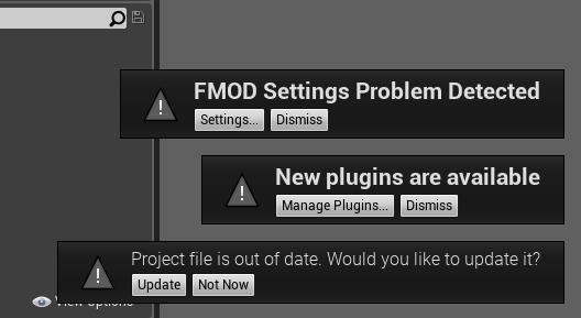FMOD in Unreal Engine 4: Fehler beim ersten Start